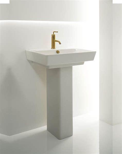 kohler reve pedestal sink faucet com k 5152 1 0 in white by kohler
