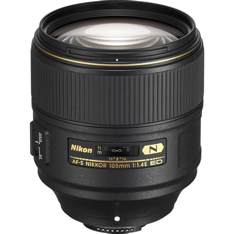 nikon lens nikon af s nikkor 105mm f 1 4e ed lens 20064 b h photo