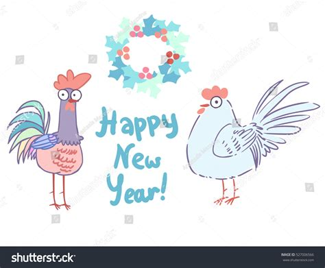new year in characters vector characters new year stock vector