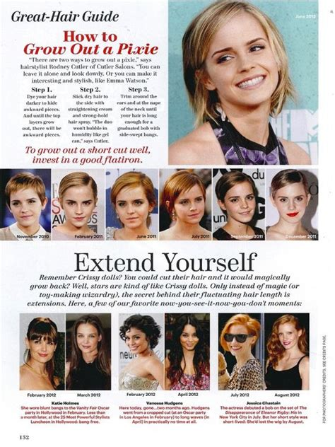 growing out short hair timeline how to grow out a pixie hair cut allure magazine emma
