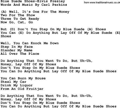 blue elvis song country blue suede shoes elvis lyrics and chords