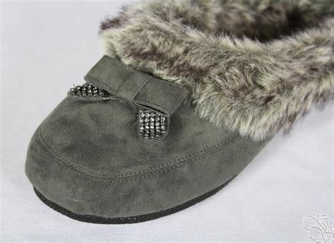 jessica simpson house slippers jessica simpson prettier charcoal microsuede house slippers womens shoes new ebay
