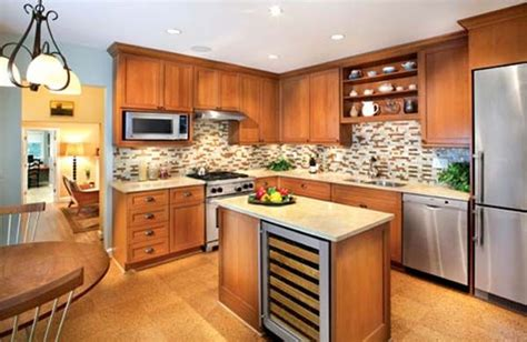 light countertops with cherry cabinets kitchen remodel