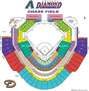 arizona diamondbacks stadium map field az seating chart view
