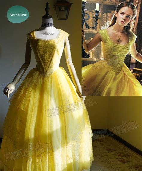 belle of the ball dresses beauty and the beast 2017 movie cosplay belle yellow ball