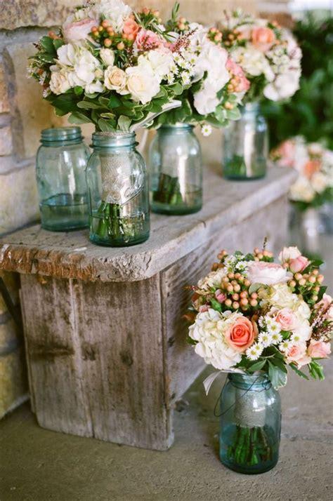 Jar Vases For Wedding by Jar Vases Rustic Wedding Theme Ideas