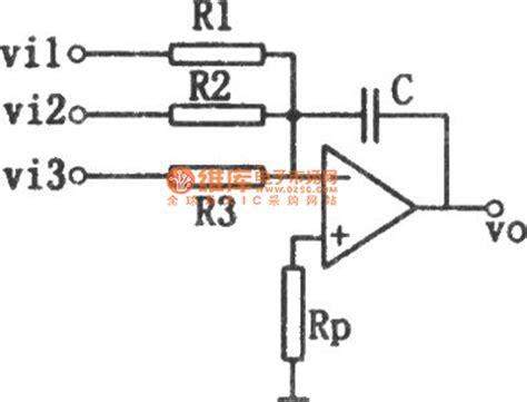 summing integrator circuit control circuit circuit diagram seekic