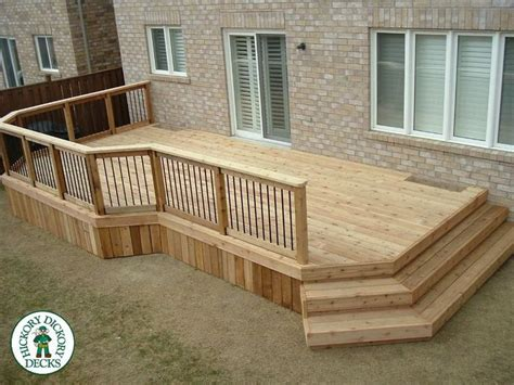 simple wood deck simple low deck great outdoors