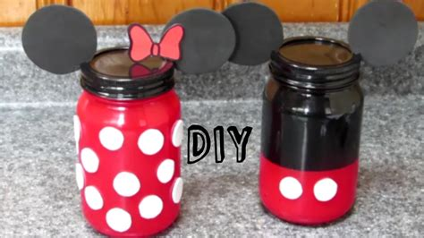 DIY Minnie y Mickey Mouse, FRASCOS DE VIDRIO de Minnie y Mickey Mouse, My Crafts and DIY Projects