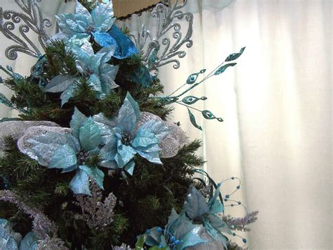 christmas trees tourquoise and silver 33 turquoise tree decorations ideas decoration