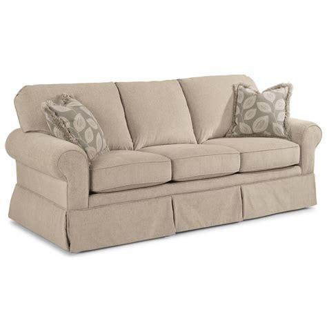 sofa with skirted base flexsteel camilla casual sofa with skirted base wayside