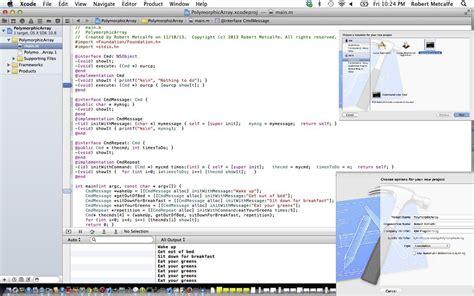 xcode tutorial array xcode objective c polymorphic array primer tutorial