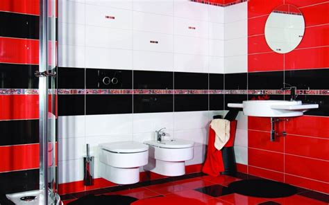 bathroom red and white red black and white bathroom ideas decor ideasdecor ideas