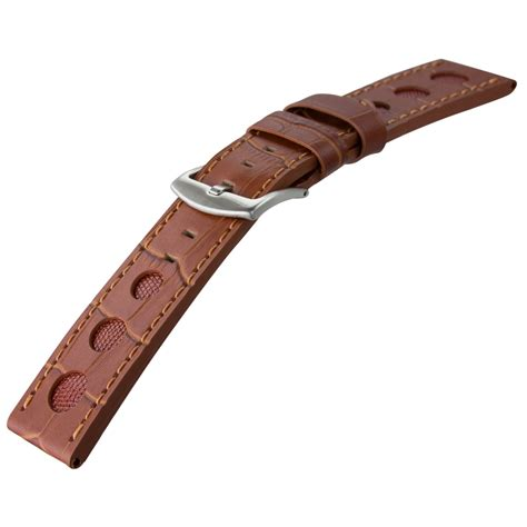 u boat watch replacement parts genuine leather rally watch strap for u boat watches with