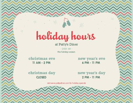 Christmas Flyer Christmas Flyer Templates Musthavemenus Thanksgiving Business Hours Template