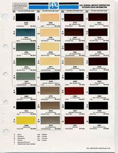 gm color codes colors and chips on