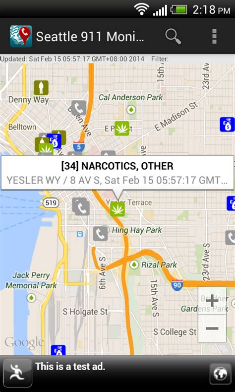 seattle incident map dominoc925 android app for monitoring 911 call incidents