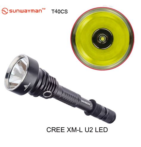 Taffware Senter Led Cree Xm L T6 U2 3800 Lumens sunwayman t40cs cree xm l u2 845lm tactical led flashlight alex nld