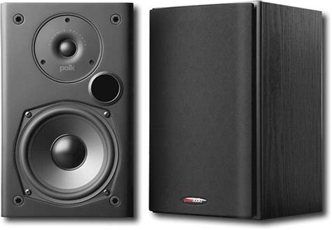 polk audio 5 1 4 quot bookshelf speakers pair black t15