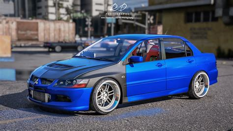 evo mitsubishi mitsubishi lancer evo 8 add on gta5 mods com
