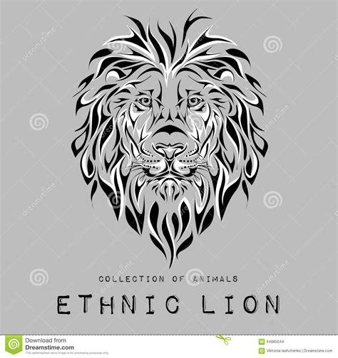 ethnic black of on grey stock vector image ethnic black of on grey stock vector image