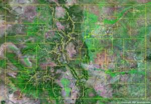 satellite maps colorado colorado county map