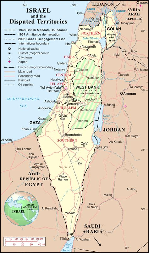 map of isreal large detailed political and administrative map of israel with disputed territories vidiani