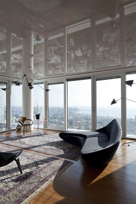 see the tel aviv skyline reflected in this gorgeous modern