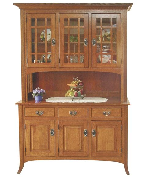 oak amish hutch buffet china mission style cabinet open mission hutch amish direct furniture