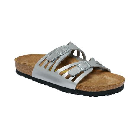 granada sandals birkenstock granada sandals in metallic lyst