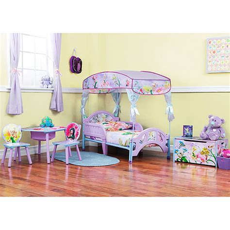 tinkerbell bedroom set new disney tinkerbell fairies toddler bed canopy princess