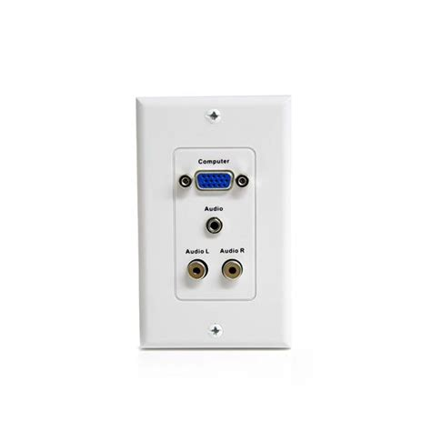 Wall Plate Vga vga wall plate with 3 5mm and rca audio startech