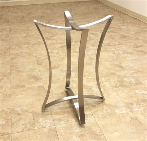 metal table l bases neptune table bases custom metal home