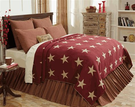 burgundy coverlet burgundy star woven coverlet by vhc brands
