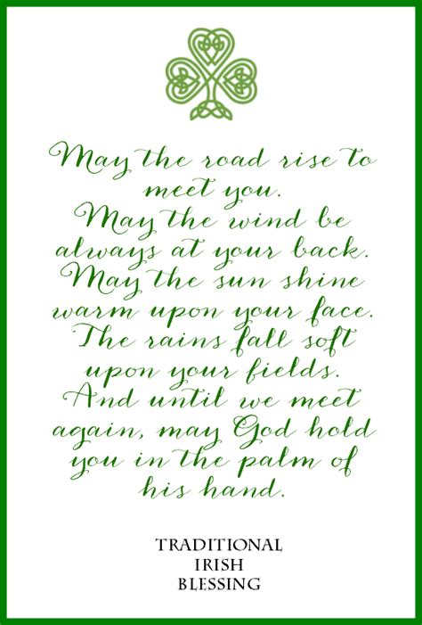printable prayer quotes irish blessing free printables for st patrick s day 3