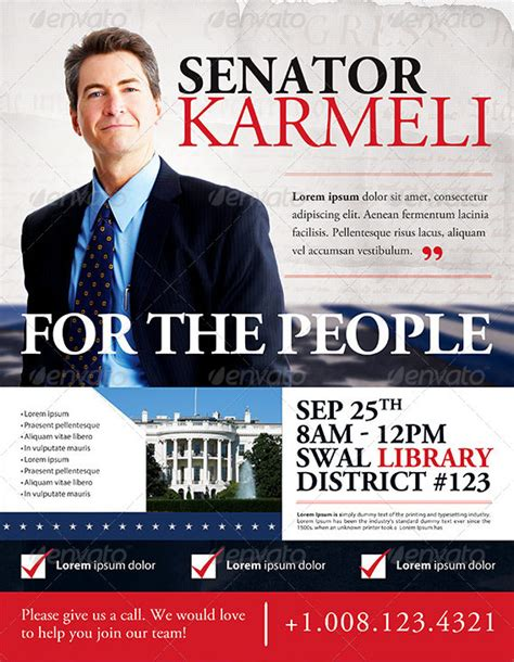 Election Flyer Templates best political flyer templates seraphimchris graphic