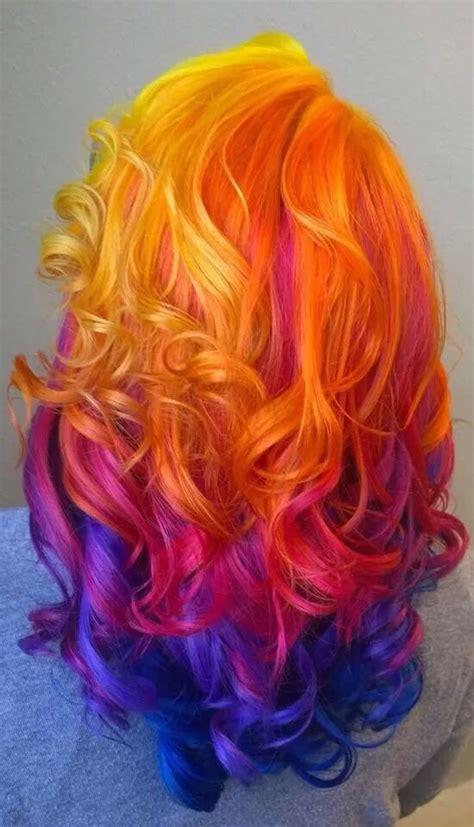 sunset hair color nighttime sunset hair hair instagram