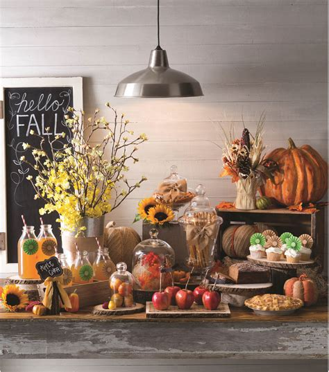 inspirational fall buffet table decorations 27 with