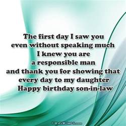 happy birthday wishes for son in law cards wishes