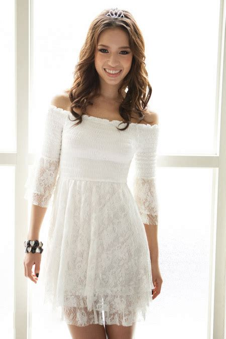 White Lace Dress white graduation dresses pjbb gown