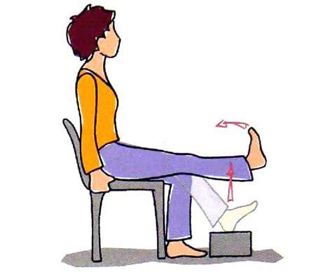 exercice de la chaise 5 exercices propos 233 pour l arthrose du genou