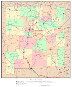 us map new mexico state new mexico political map