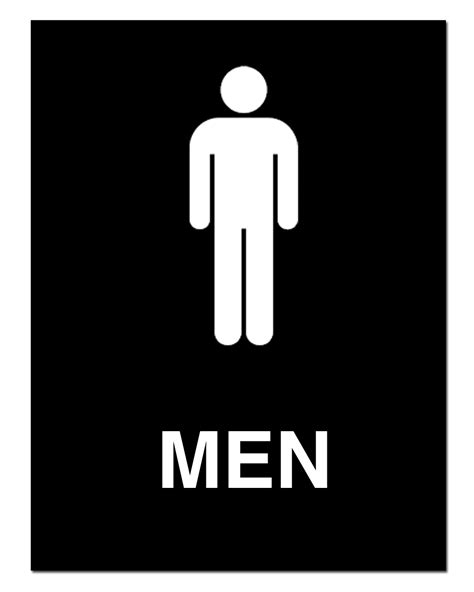 bathroom man the man toilet sign clipart best