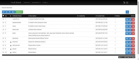 bootstrap tutorial crud template codeigniter crud generator admin by masdeveloper