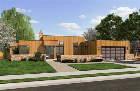 the queensbury contemporary ranch house plan
