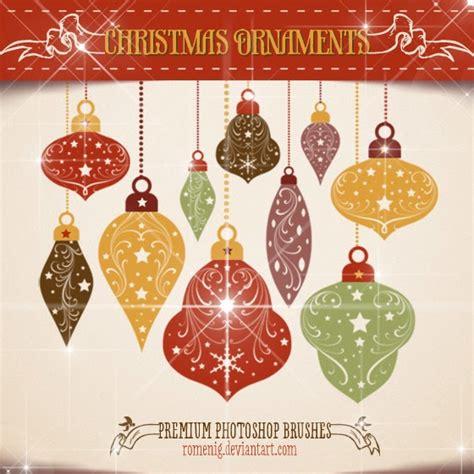 efeito photoshop chritsmas ornaments premium brushes