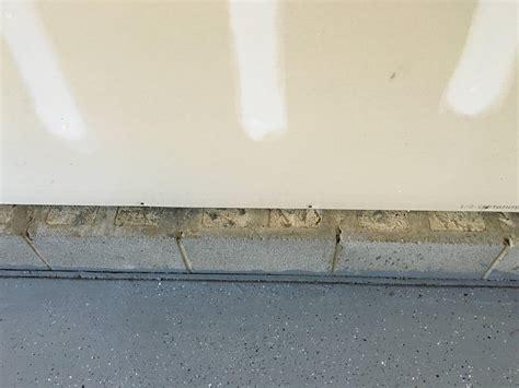 1 Drywall Floor Gap - garage sealing foundation blocks and gap between drywall