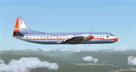 american airlines flight american airlines l 188 electra ii for fsx