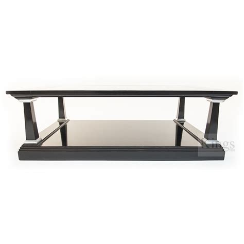 Reh Kennedy Classic Coffee Table Black And Silver With Black Silver Coffee Table