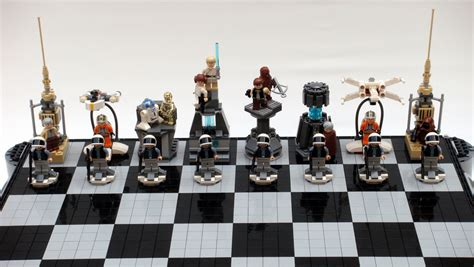 wars chess sets lego wars chess sets swankier than vader s vinyl